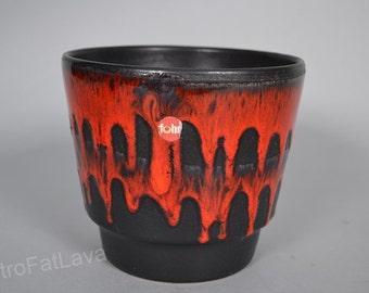 Fohr Fat Lava Red & black  German planter
