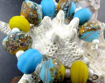 Lampwork handmade beads.
