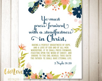 8x10 and 16x20 size 2016 Mutual Theme - Press Forward with a Steadfastness in Christ