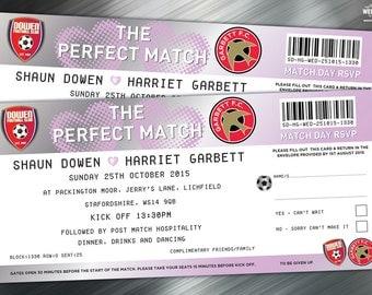 Football Ticket Wedding Invitations