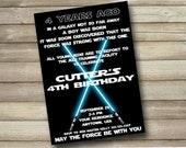 Customized Star Wars Invitation
