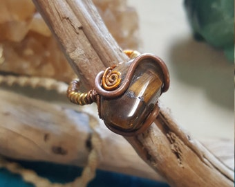 Big #Tigerseye Ring #copperjewelery
