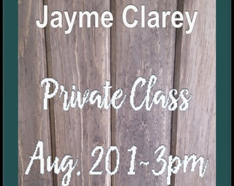 Jayme Clarey -Private Wooden Sign Class