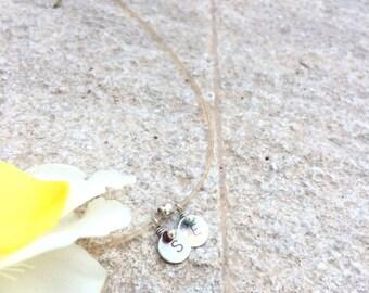 """Mini Stamped Necklace """"Sei"""""""