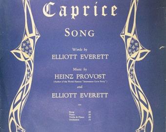"""1944 Sheet Music, """"Caprice"""""""