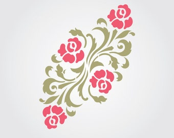 Beach Rose Craft Stencil