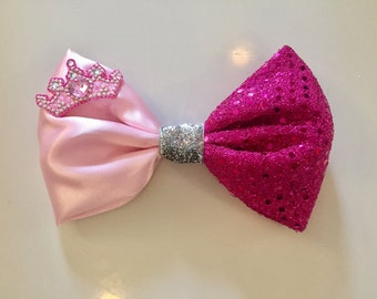 Pink or Purple Princess Bow