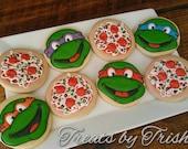Teenage Mutant Ninja Turtle Decorated Sugar Cookies