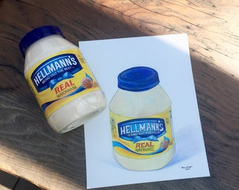HELLMANN'S MAYONNAISE  |  8x10 print of original colored pencil drawing