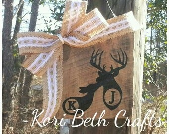 Buck and doe custom Rustic Wooden sign