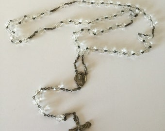 Crystal and Sterling Rosary