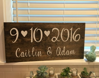 Save the date sign, rustic wedding decor, engagement photos, personalized wedding date sign, rustic wedding sign, personalized wedding gift
