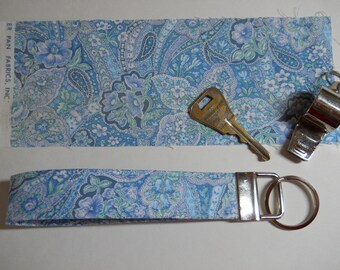 Blue Paisley Key Fob