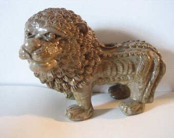 Glazed Clay Lion from Java