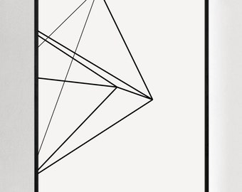 Geometric Art, Black and White Prints, Modern Wall Print, Abstract Wall Prints, Geometric Wall Art, Minimalist Decor, Modern Prints