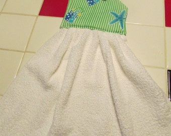 Hanging kitchen towel tea towel dish towel