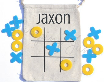 Tic Tac Toe Game, travel tic tac toe, travel tic tac toe, personalized childs gift, birthday gift, stocking stuffer