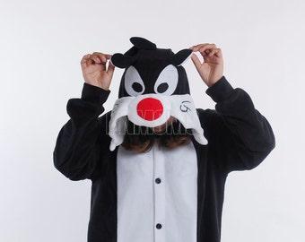 KIGURUMI Animal Pajamas Pyjamas Costume  Adult / Kid SLOTH -Sylvester