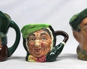 Lot of Three(3) Small Vintage Royal Doulton Toby Mugs