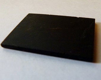 Polished SHUNGITE mobile cell phone tile plate cleanse heal protect balance