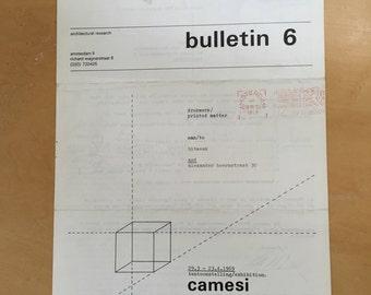 art & project 6 bulletin 6 camesi