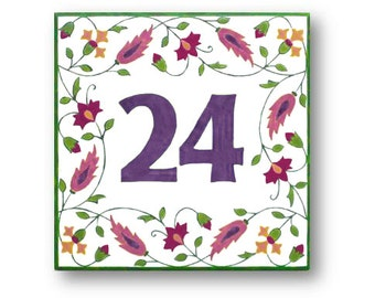 House number sign, Address sign, House numbers, House number plaque