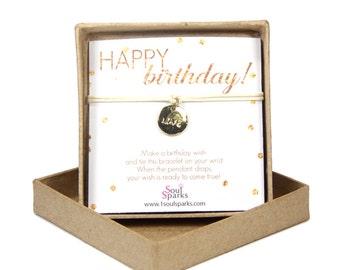 Happy birthday love wish bracelet, love charm bracelet- make a wish bracelet, minimalist bohemian bracelet, birthday gift for best friend