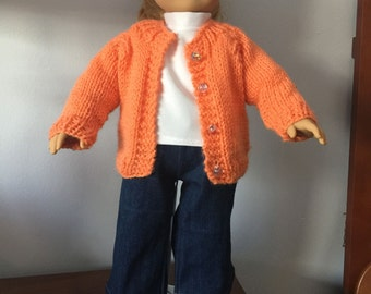 American Girl jeans and sweater outfit