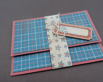 Masculine Gift Card Holder -- Mans Money Holder -- Masculine Card -- Masculine Money Holder