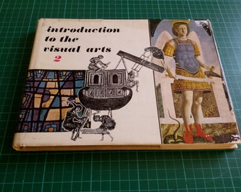 introduction to the visual arts volume 2, art book, art resource book, vintage art book, george g harrop book, 60's vintage, learn to draw