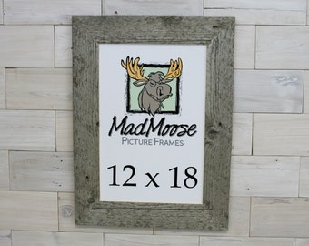 "12x18 BarnWood [Thin x 3""] Picture Frame"