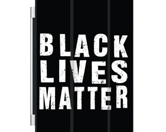CUSTOM Magnetic Smart Cover for Apple iPad Pro 9.7 / Air  1, 2 / Mini 1 2 3 4 - Personalized Monogram - Black Lives Matter