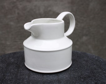 Vintage 1970s  White Porcelain Creamer, by W. R. Midwinter, Made In England