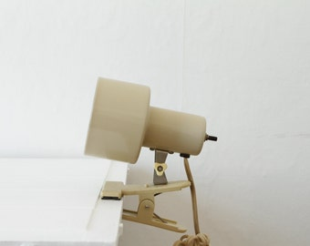 Cute beige clamp lamp vintage
