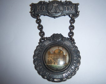 Antique Maccabee Temple Member Brooch. 1910 Articulated Member Pin. Maccabee Jewelry.