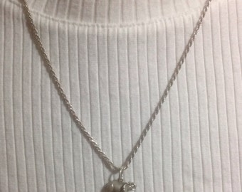 Necklace, .925 Italy Silver Chain with Elephant