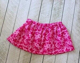 girls skirt fall skirt summer skirt pink birthday skirt pink skirt twirly skirt girls clothing clothing simple skirt toddler