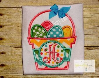 Girls Easter Basket shirt Girl Easter Egg shirt girls Easter egg clothing toddler Easter baby girl Easter polka dot