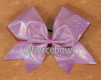 Light Purple Holographic Ice Bow