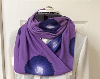 Om Aum Yoga Jersey Knit Infinity Scarf