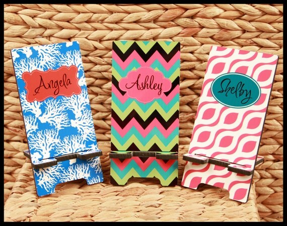 Secret Santa Gifts for Coworkers Personalized Cell Phone Stand Monogrammed Gift Co-Worker Boss Gift Desk Accessories Stocking Stuffer