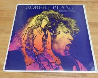 Sealed Robert Plant Manic Nirvana Vinyl Record LP album jimmy page Led Zeppelin columbia house club