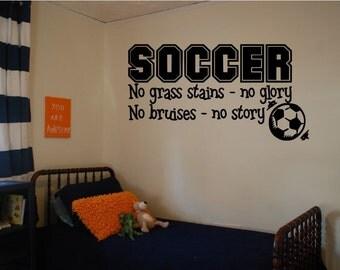 Soccer Wall Decal Boys Room Decal Bedroom decal Wall Sticker Sports Wall Decal Vinyl Wall Decals Wall Art