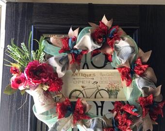 Antique Floral Wreath