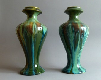Art Nouveau  Pair of Vases