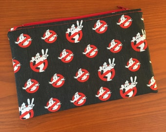 Ghostbusters Inspired Makeup Bag, Cosmetic Pouch, Pencil Bag