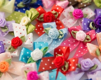 Dog's Grooming Bows - 48 Pcs. Simply Roses