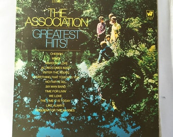 The Association - Greatest Hits  Vintage Record Vinyl LP Album /60s Pop Rock and Roll Records