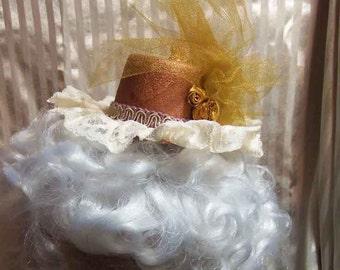 Steampunk Lolita Copper Gold Rose Mini Hat