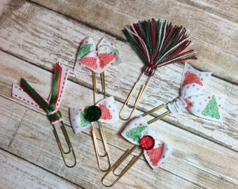 Christmas Tree Swirls - Set of 3 - Planner Clips / Bookmarks